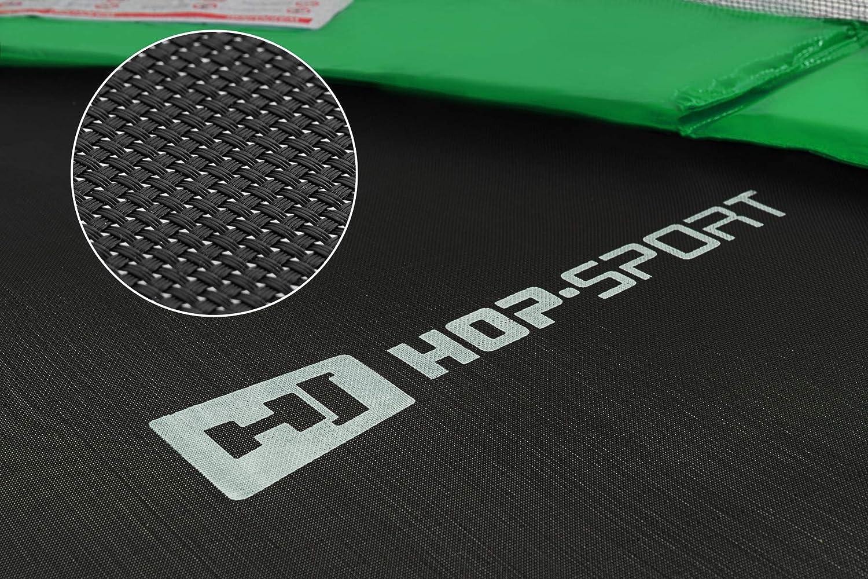 305 490 cm Komplettset inkl Hop-Sport Gartentrampolin Outdoor Trampolin 244 430 366 Innennetz Leiter Wetterplane Bodenhaken