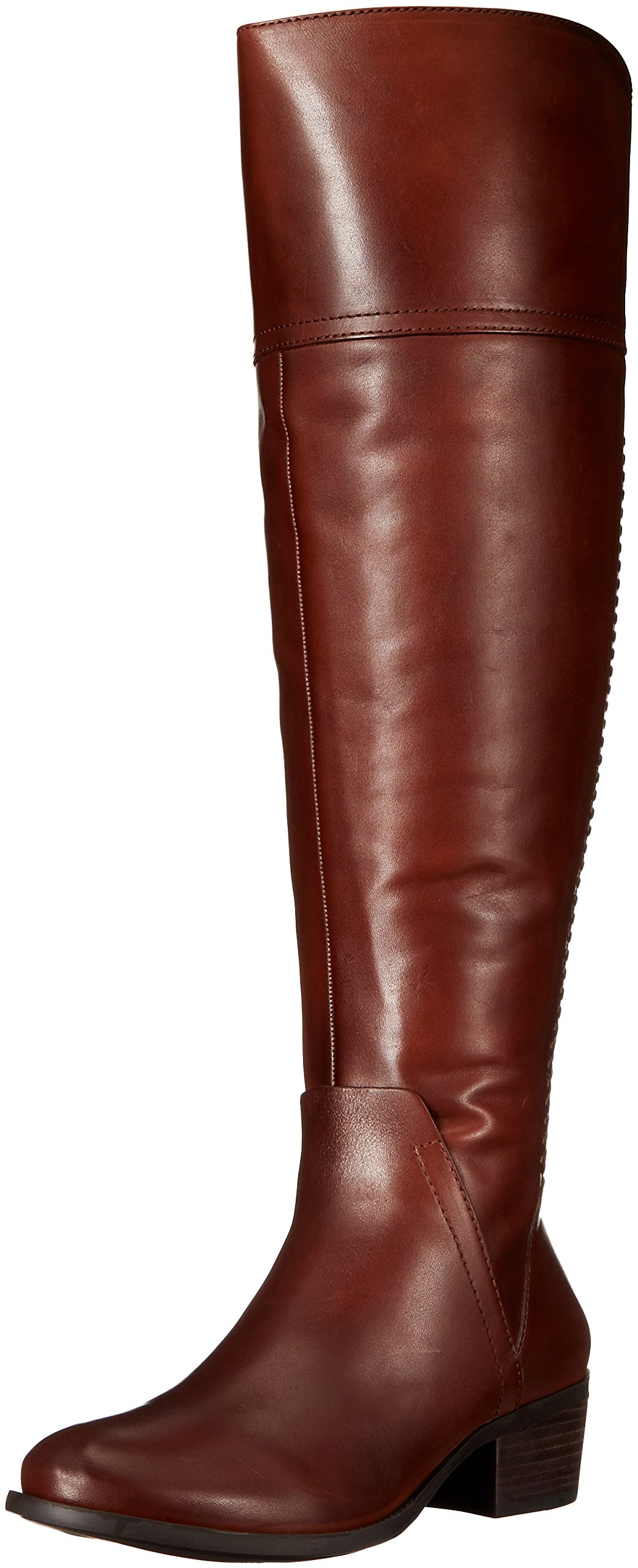 Vince Camuto Women's Bendra Riding Boot, Russet/Wide Calf, 7 M US