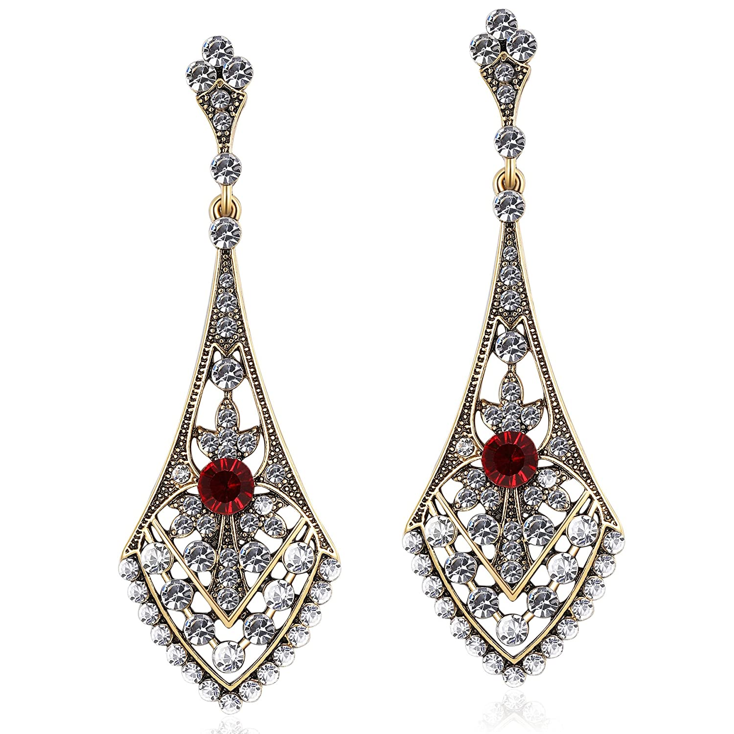 58b2a42c5 Amazon.com: BABEYOND 1920s Flapper Earrings Roaring 20s Great Gatsby  Crystal Rhinestone Earrings Vintage 20s Flapper Gatsby Costume Accessories  (Style ...