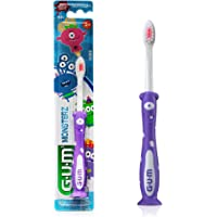 GUM Monsterz Kids and Toddler Toothbrush, Soft, Suction Cup Base, Ages 2+, 1 Count