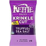 Kettle Brand Potato Chips, Krinkle Cut Truffle and Sea Salt Kettle Chips, 8.5 Oz