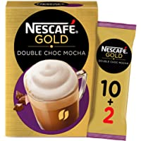 Nescafe Gold Double Chocolate Mocha Coffee Mix 23g (10+2 Sachets Free)