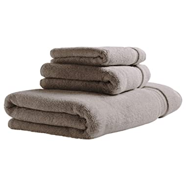 Stone & Beam Heavyweight Turkish Cotton Bath Towel Set, Set of 3, Heather