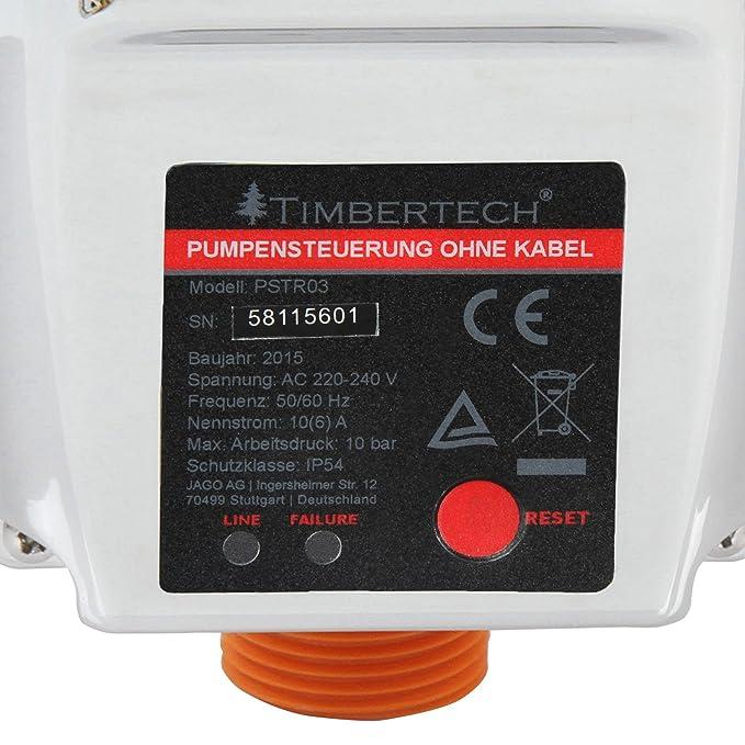 Timbertech - Control automático de bomba de agua - modelo sin cable (aprox. 19/9,6/9,2 cm): Amazon.es: Bricolaje y herramientas