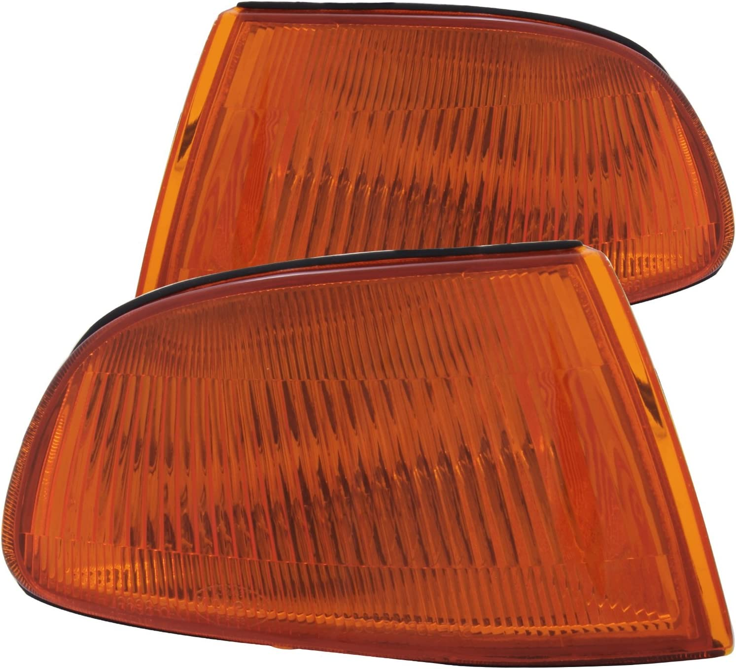 Sold in Pairs Anzo USA 511008 Honda Accord Chrome Euro w//Amber Reflector Bumper Light Assembly