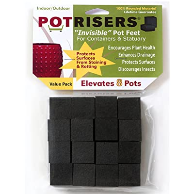 Potrisers (Standard Size -32 Pack) - Invisible Pot Feet to Elevate up to 10 Flower Plant Planters or Statues | Perfect for Patios, Decks, Gardens, and Greenhouses - Made in the USA: Garden & Outdoor