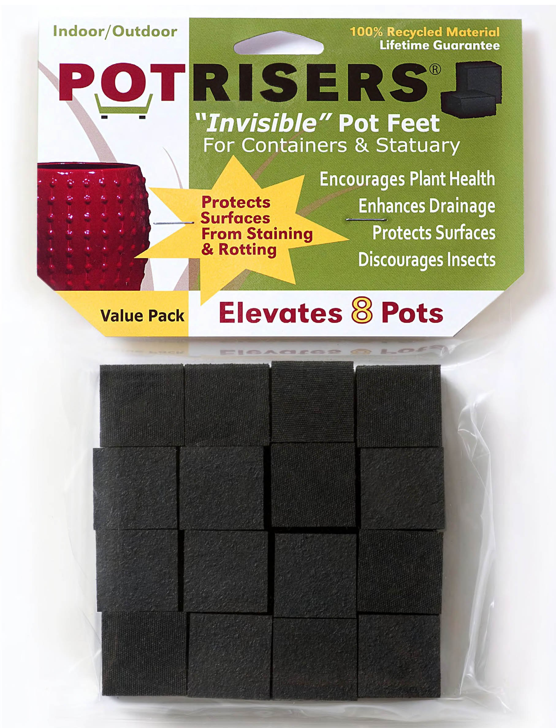 Potrisers 32 Pack of Standard Risers (supports 8-10 small to medium pots and statuary) by Potrisers