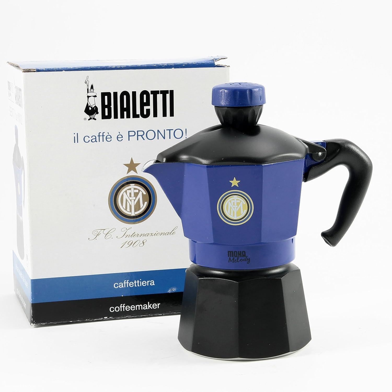 Bialetti Melody Inter Caffettiera 3 Tazze, Alluminio, Nero, 15x9.5x17.5 cm Bialetti Industrie Spa BIA290M05