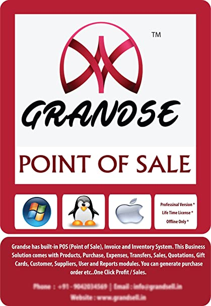 Grandse Billing And Inventory Management Software DVD Amazonin - Invoice maker software women's clothing stores online