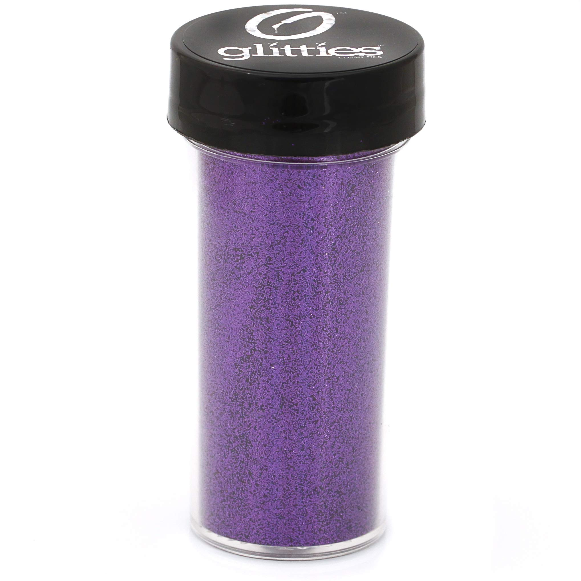 GLITTIES - Purple Essence - Cosmetic Grade Extra Fine (.006'') Loose Glitter Powder Safe for Skin! Perfect for Makeup, Body Tattoos, Face, Hair, Lips, Soap, Lotion, Nail Art - (30 Gram Jars) by Glitties