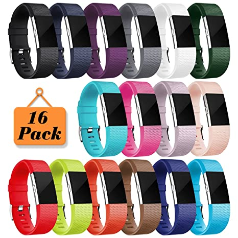 Amazon Maledan Replacement Bands For Fitbit Charge 2 16 Pack