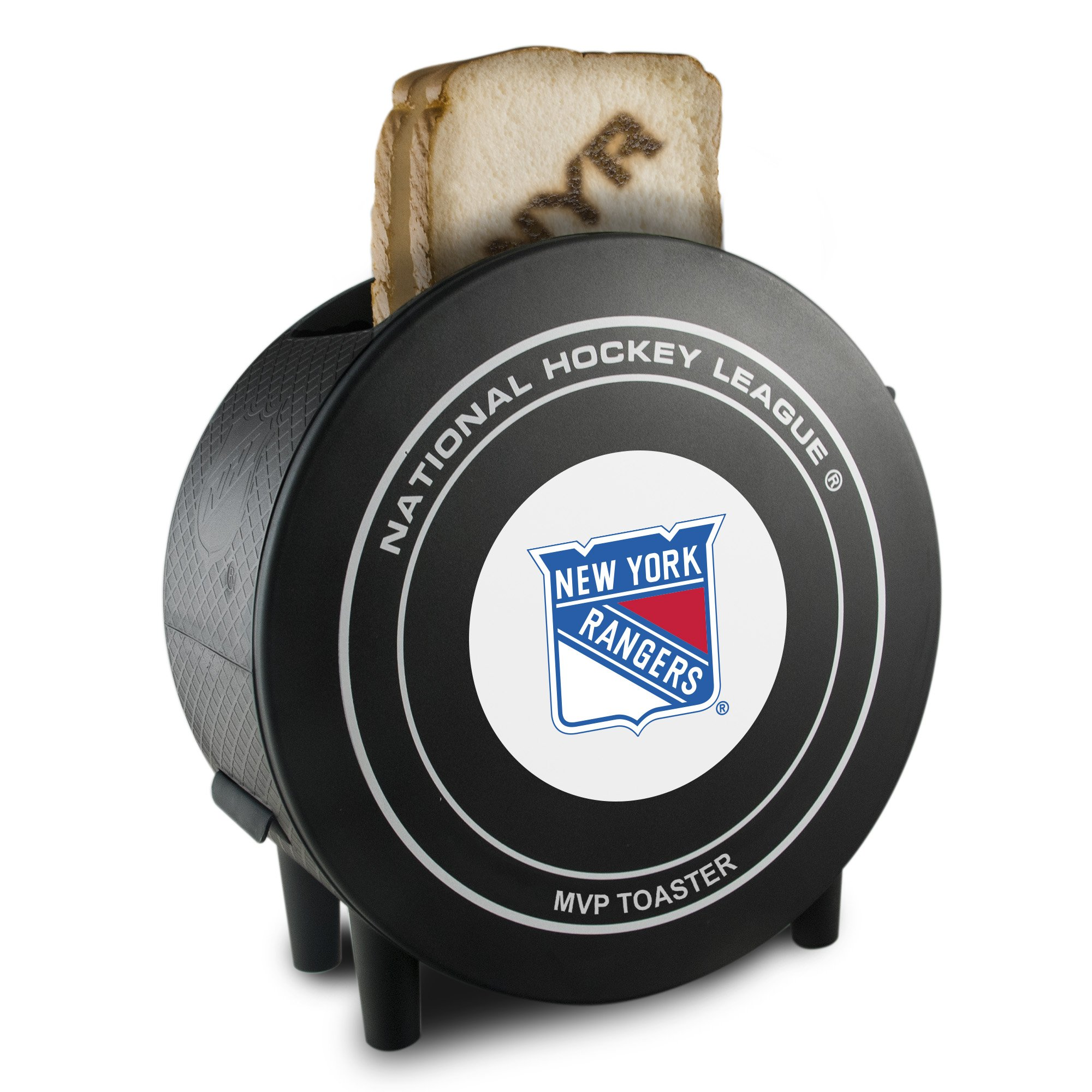 NHL New York Rangers ProToast MVP Toaster, 10 x 5 x 9.75-Inch, Black by Pangea Brands