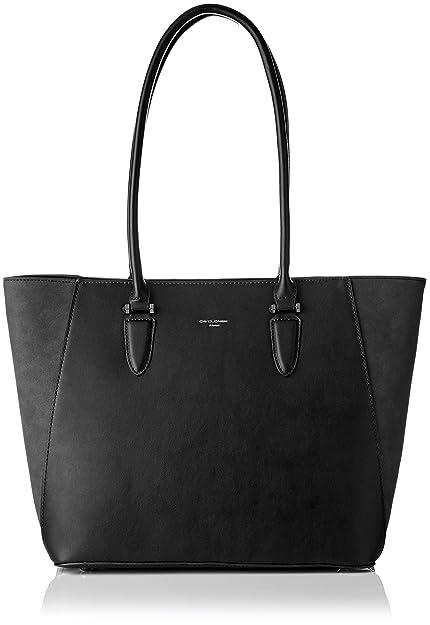 65c8b257deaa1 David Jones Women s CM3974 BLACK Shoulder Bag Black Black (Black ...