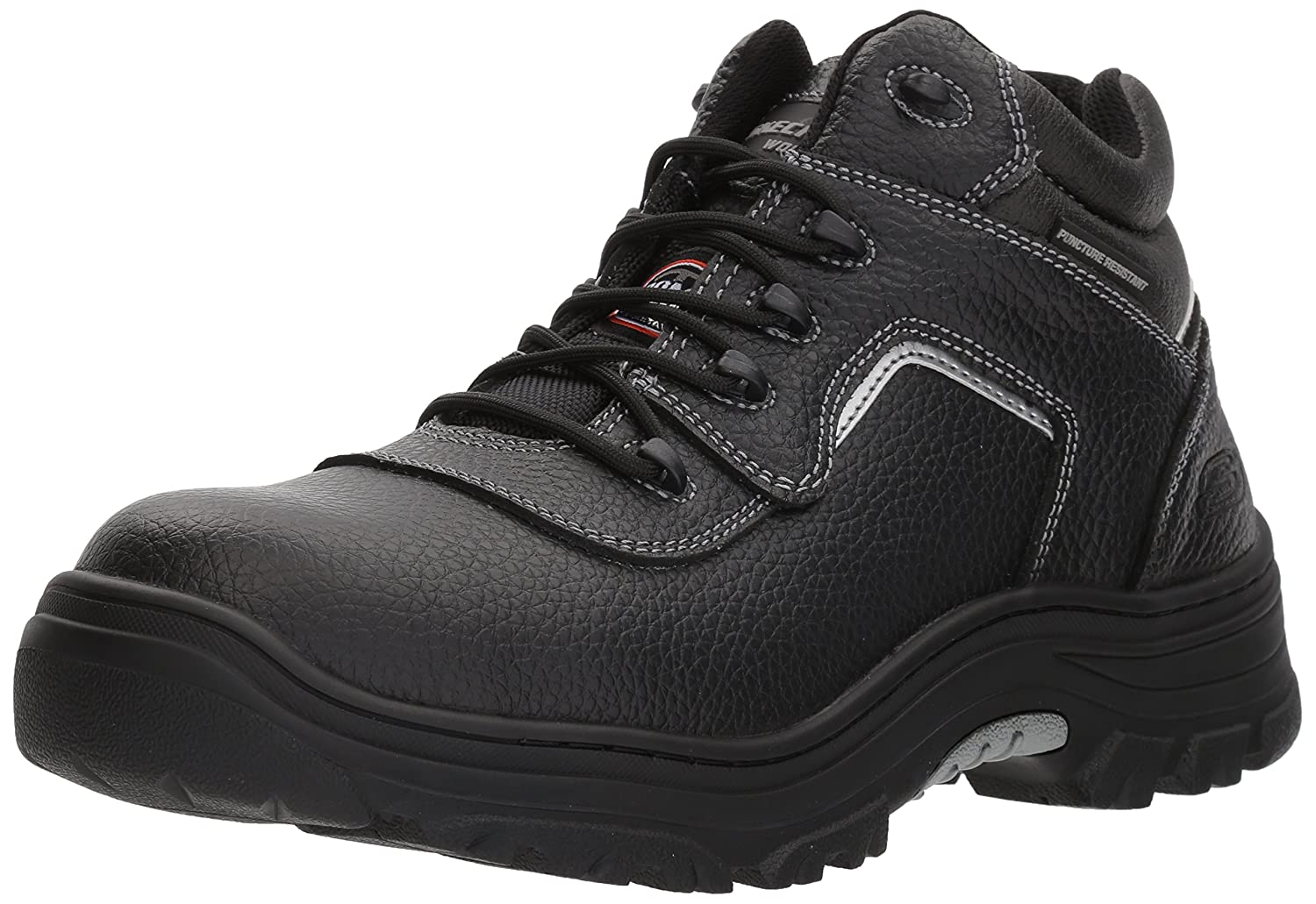 Skechers for Work メンズ Burgin-Sosder Black Embossed Leather 8 D(M) US 8 D(M) USBlack Embossed Leather B073WGRXP6