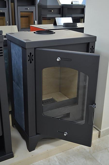 Estufa de leña chimenea moderno quemador Log piedra forro de la madera para 9 kW