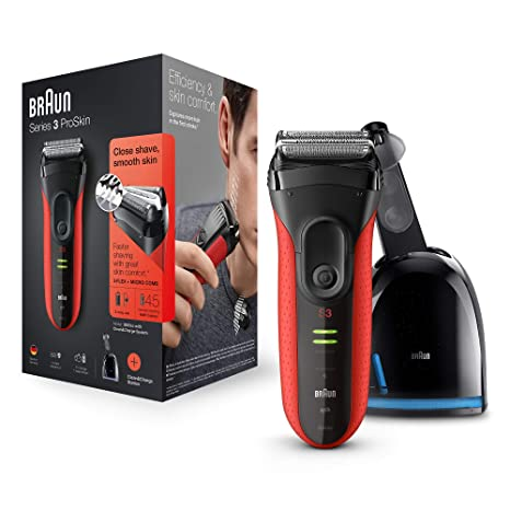 Braun Series 3 3050cc Rechargeable Electric Foil Shaver with Clean   Charge  station dcf8b8d42c