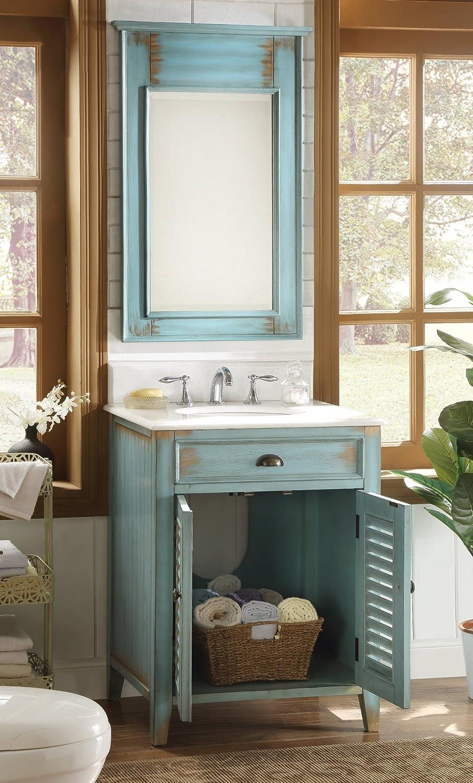 26 cottage look abbeville bathroom sink vanity with mirror cf 28883 mr28883 amazoncom