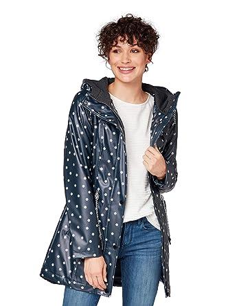 elegant und anmutig zuverlässige Qualität suchen TOM TAILOR Damen Beschichteter Kaputze Regenmantel