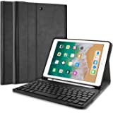 ProCase iPad 9.7 Keyboard Case, Slim Shell Lightweight Smart Cover with Magnetically Detachable Wireless Keyboard for Apple iPad 9.7 Inch 2018/2017 –Black