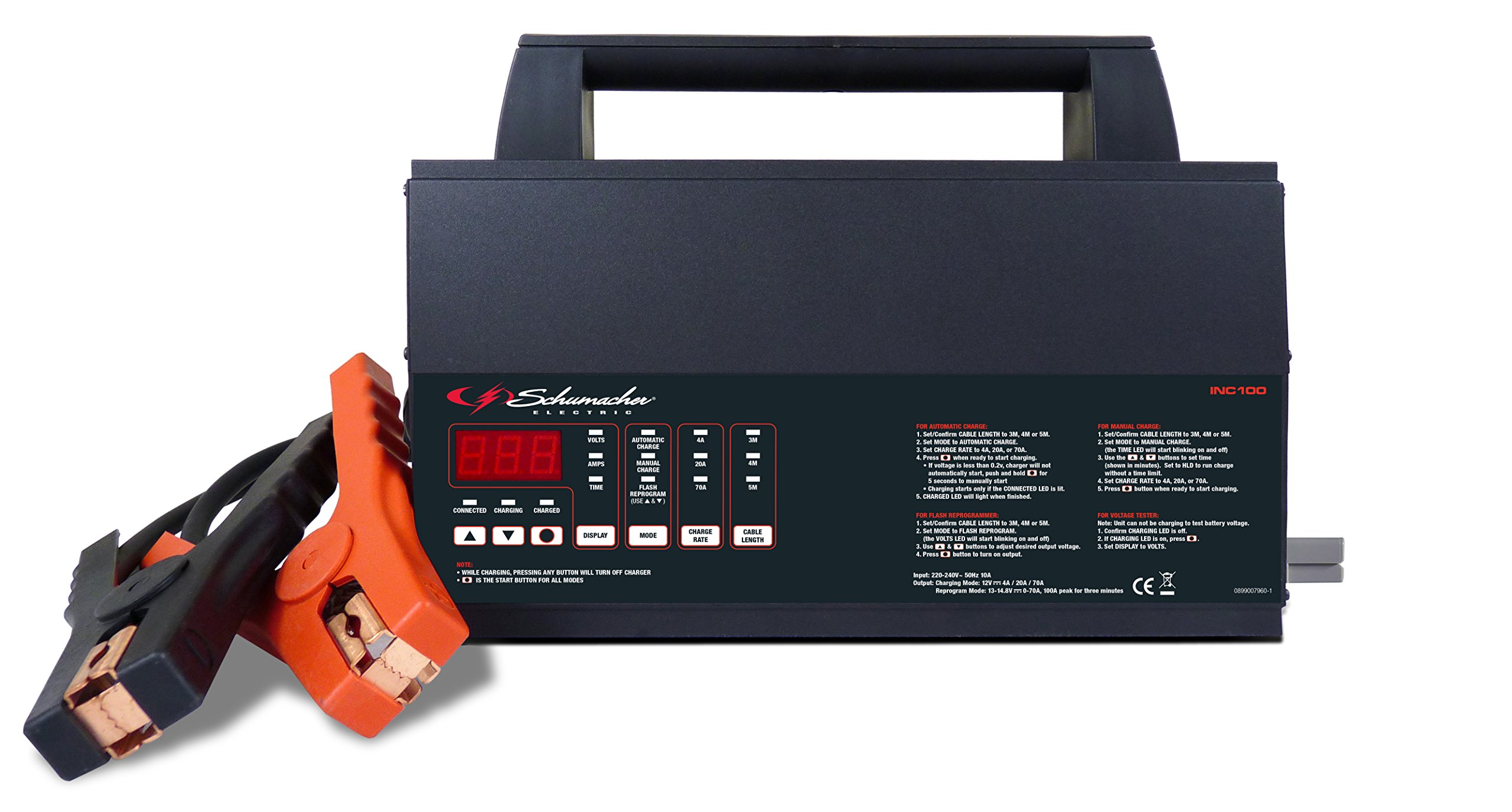 Schumacher INC100 100A 12V Battery Charger and Power Supply