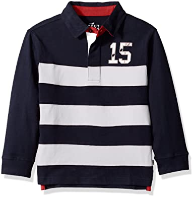 f9921996a67 Amazon.com: Scout + Ro Boys' Long-Sleeve Stripe Rugby Shirt: Clothing