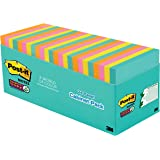 """Post-it Super Sticky Notes, 3"""" x 3"""", Miami Collection, 24 Pads per Pack, 70 Sheets per Pad (654-24SSMIA-CP)"""