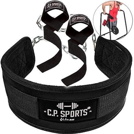 C.P.Sports - Juego de cinturón para Abdominales y cinturón para Flexiones para Culturismo, Fitness