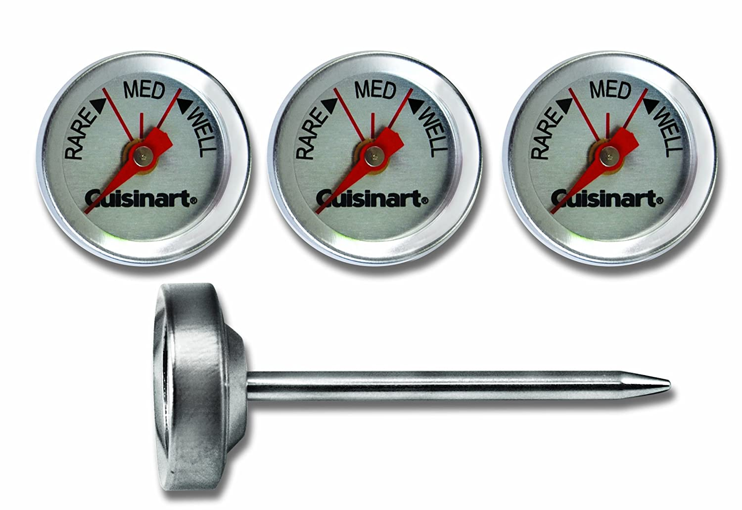 Cuisinart CSG-603Outdoor Grilling Steak Thermometers (Set of 4) , Stainless Steel