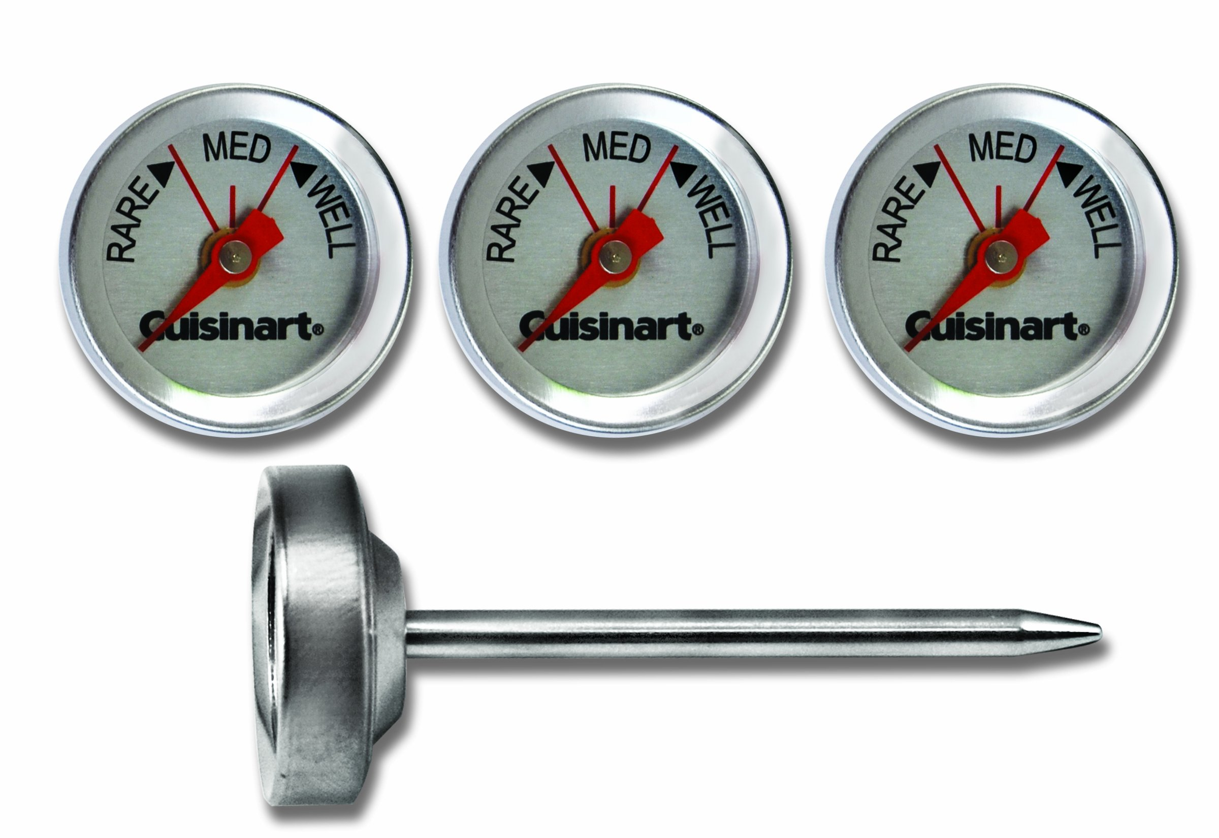 Cuisinart CSG-603  Outdoor Grilling Steak Thermometers (Set of 4) , Stainless Steel by Cuisinart (Image #1)