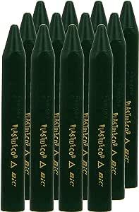 Plastidecor 816 - Ceras, caja de 12 unidades, color verde oscuro: Amazon.es: Oficina y papelería