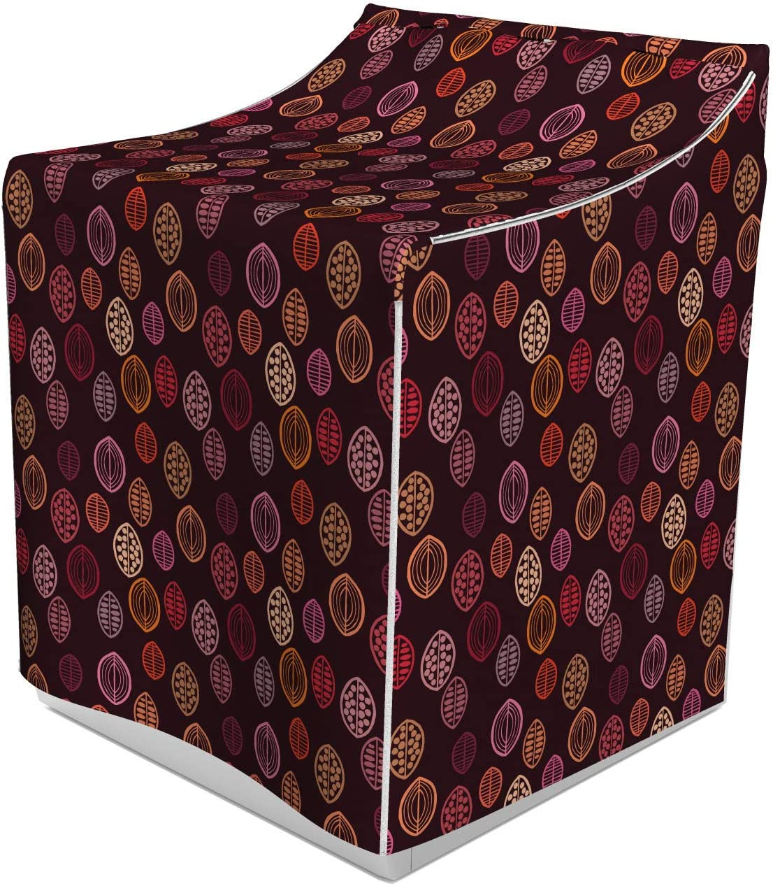 Amazon Com Lunarable Abstract Washer Cover Floral Pattern With Prehistoric Leaves In Different Colors Bohemian Design Suitable For Dryer And Washing Machine 29 X 28 X 40 Multicolor Home Improvement