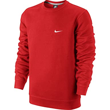 retail prices new list great fit Nike Club Swoosh Crew Men's Sweat Shirt Red/White 611467-603 ...