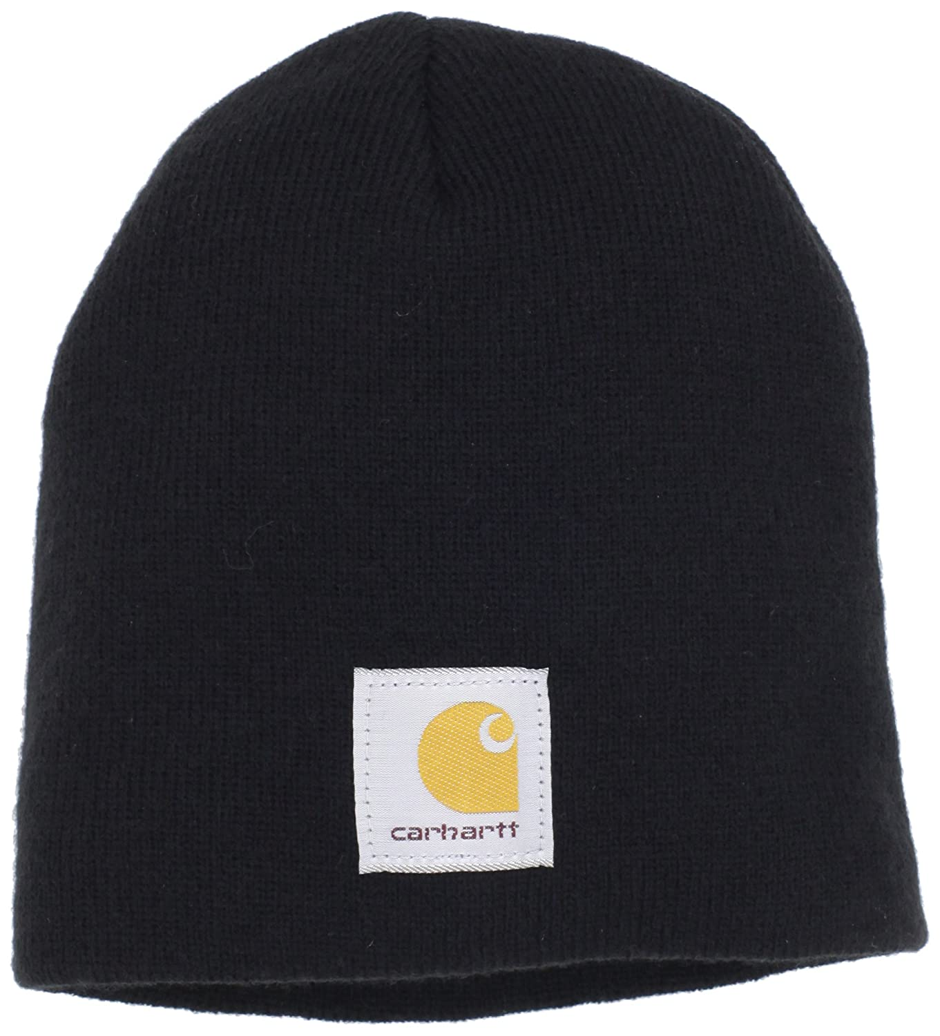 8c8f357ee4f66f Carhartt Men's Acrylic Knit Hat, Black, One Size at Amazon Men's Clothing  store: Skull Caps