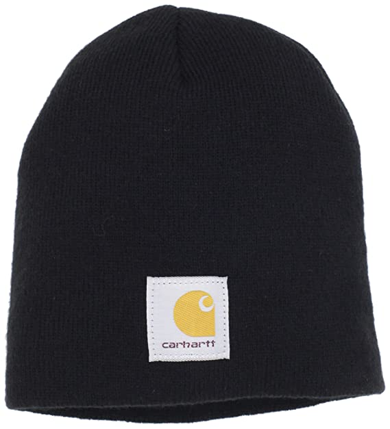 e387c483 Carhartt Men's Acrylic Knit Hat, Black, One Size at Amazon Men's ...