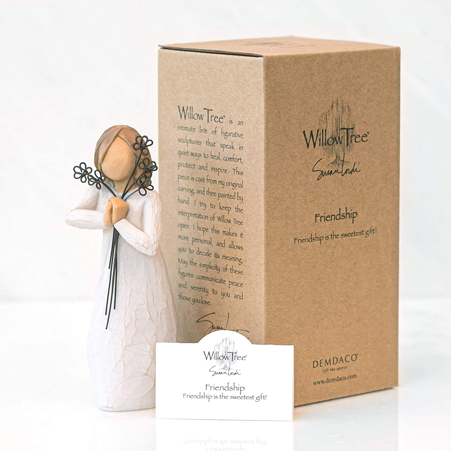Willow Tree Friendship Figurine 26155 in Branded Gift Box