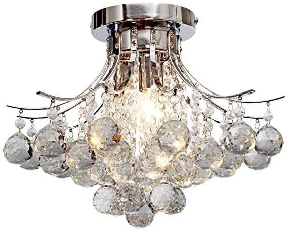 Saint mossi chandelier modern k9 crystal raindrop chandelier saint mossi chandelier modern k9 crystal raindrop chandelier lighting flush mount led ceiling light fixture for aloadofball Image collections