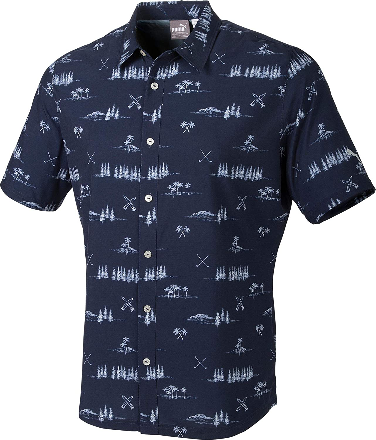 [プーマ] メンズ シャツ PUMA Men's Play Loose Paradise Button Do [並行輸入品] XL  B07MJPLH21