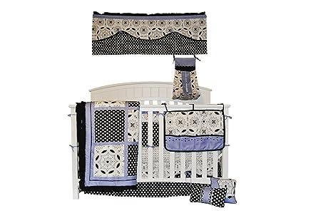 Amazon.com : Ropa de cama cuna Vivero Set, Negro Blanco y bígaro Chica, de 10 pedazos : Baby