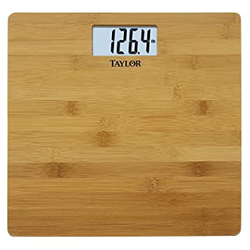 taylor precision products bamboo electronic scale - Taylor Bathroom Scales