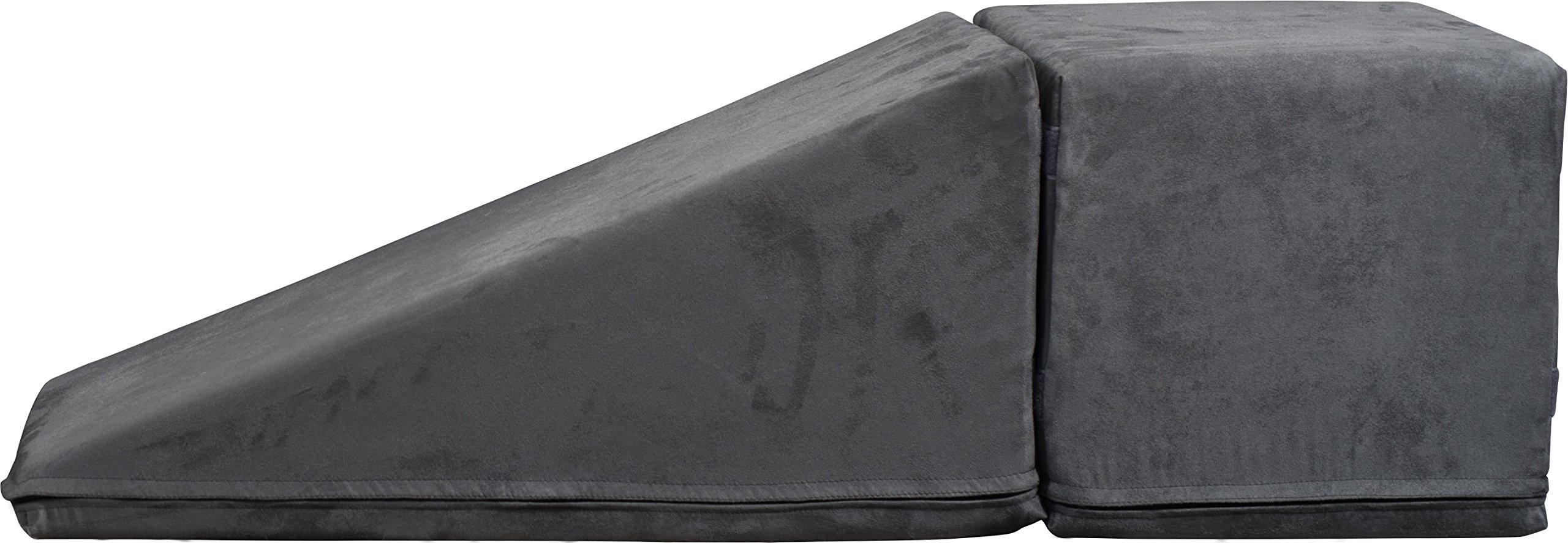 Royal Ramps 14'' Pet Ramp with Landing - Charcoal Gray