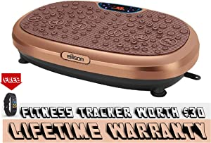 EILISON KM-818 Powerful Vibration Plate Machine - Whole Body Workout Vibration Platform w/Loop Bands, Home Fitness Equipment for Weight Loss, Toning, Cardio, Massage and Pain Relief