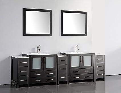 amazon com vanity art 96 inch double sink bathroom vanity set rh amazon com 96 inch bathroom vanity cabinets 96 inch bathroom vanity cabinets
