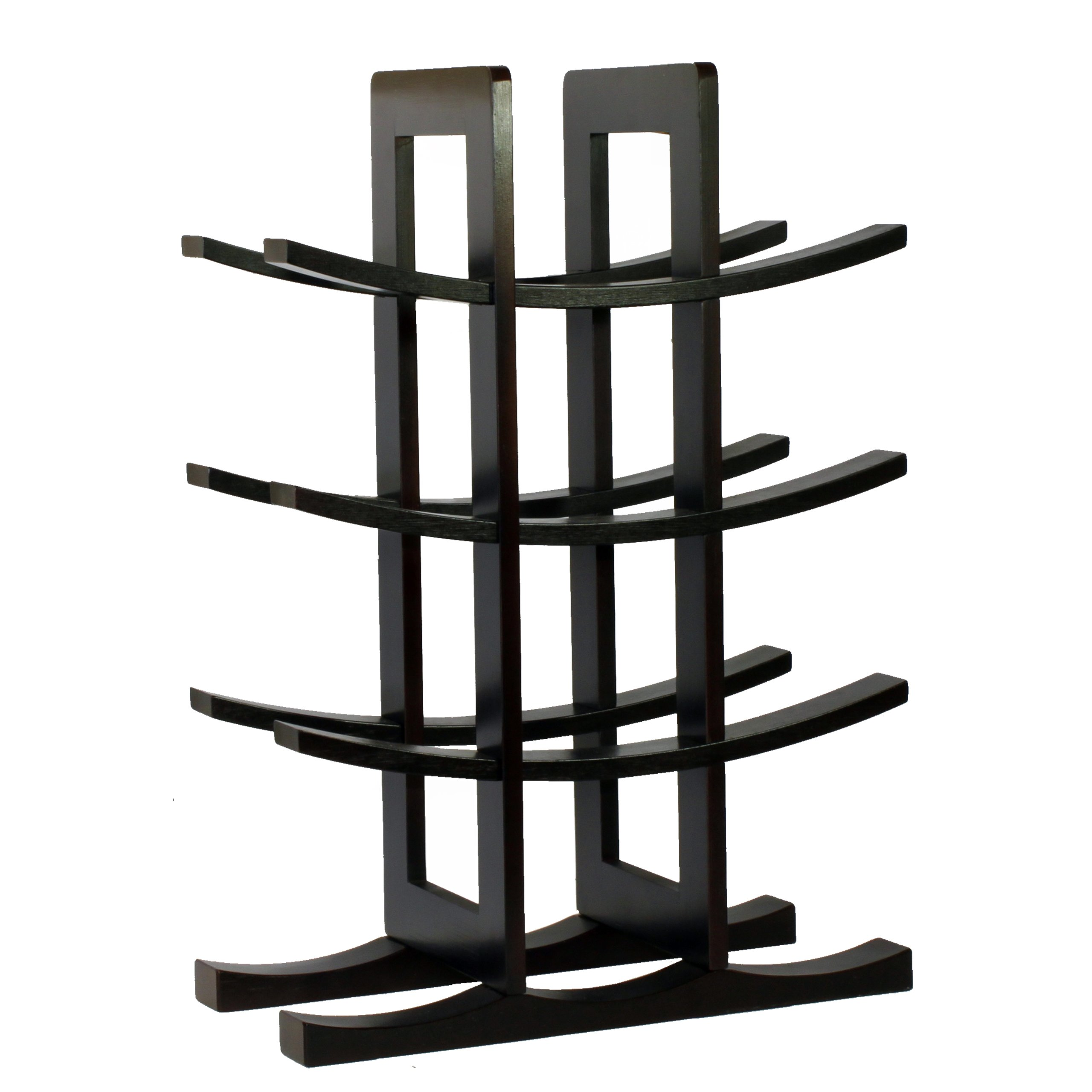 Oceanstar WR1132 12-Bottle Dark Espresso Bamboo Wine Rack