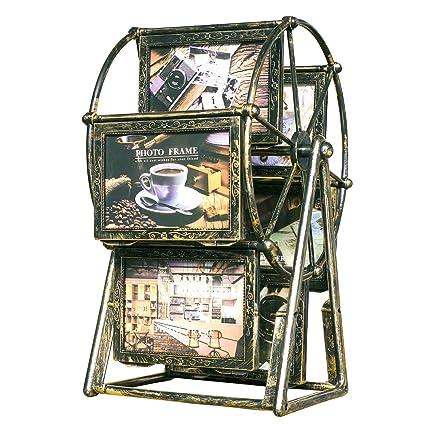 Amazon.com - XBEEK Rotating Ferris Wheel Photo Frames Vintage Style ...