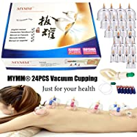 24 Cupping Cups Biomagnetic Traditional Chinese Therapy Cupping Set Household Pull...