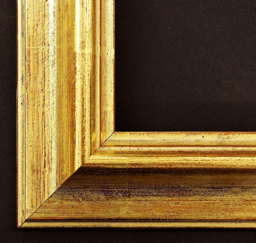 Spiegel Wandspiegel Badspiegel Flurspiegel Garderobenspiegel - Über 200 Größen - Miesbach antik Echt - gold, handgrundiert 4,9 - Außenmaß des Spiegels DIN A0 (84,1 x 118,9 cm) - Über 100 Größen zur Auswahl - Wunschmaße auf Anfrage - Barock, Antik