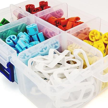 Hangerworld Caja Organizadora de Plástico Transparente con Seis Compartimentos Ajustables y Tapa
