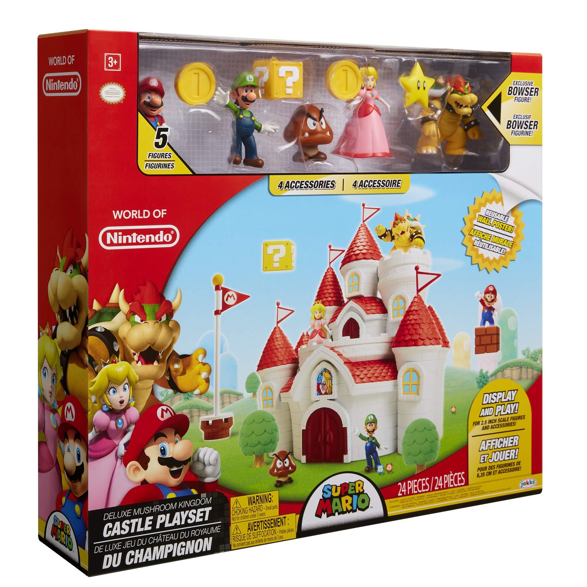 Nintendo Super Mario Deluxe Mushroom Kingdom Castle Playset with 5 Figures & 4 Accessories by Nintendo (Image #8)