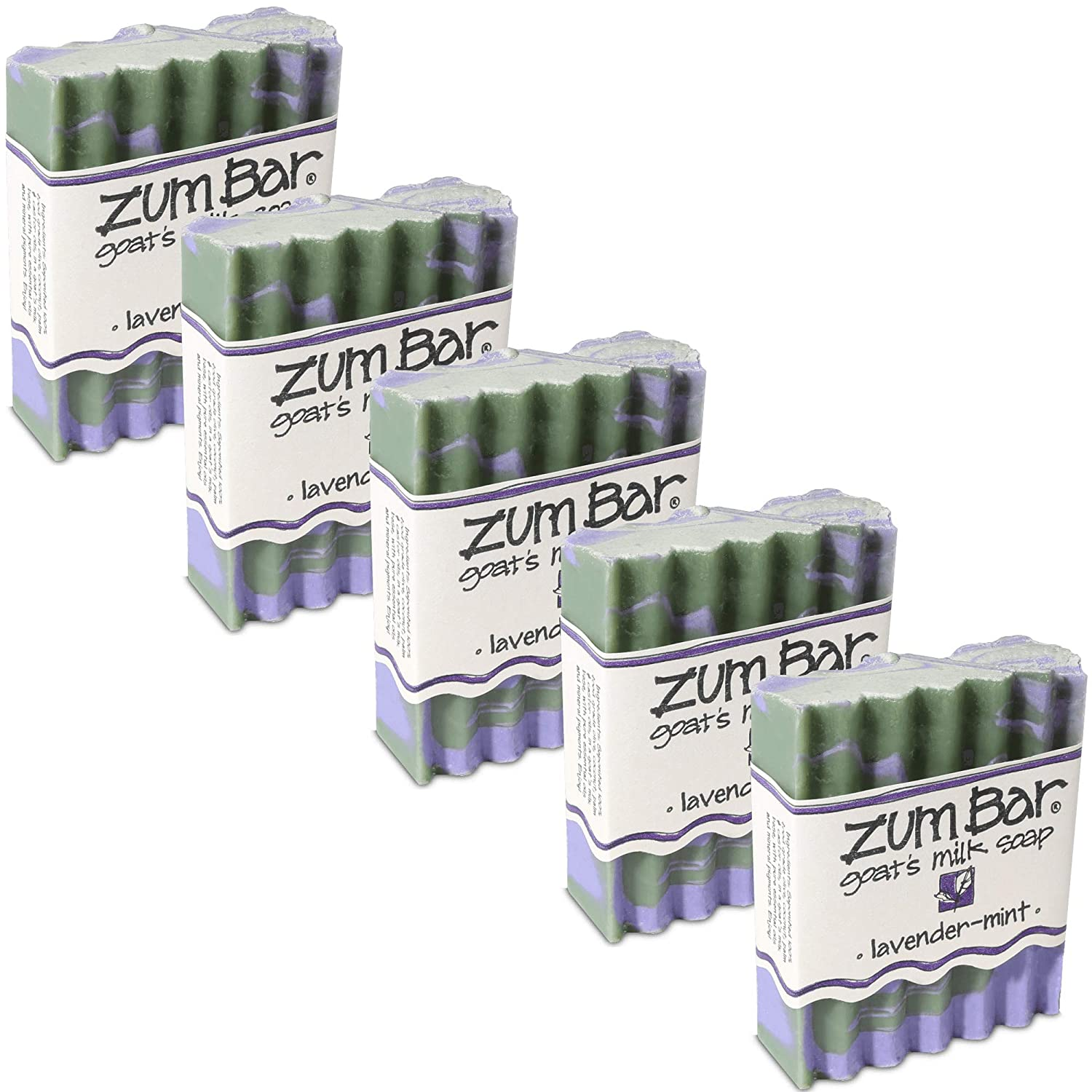 Indigo Wild: Zum Bar Goat's Milk Soap, Lavender & Mint 3 oz (5 pack)