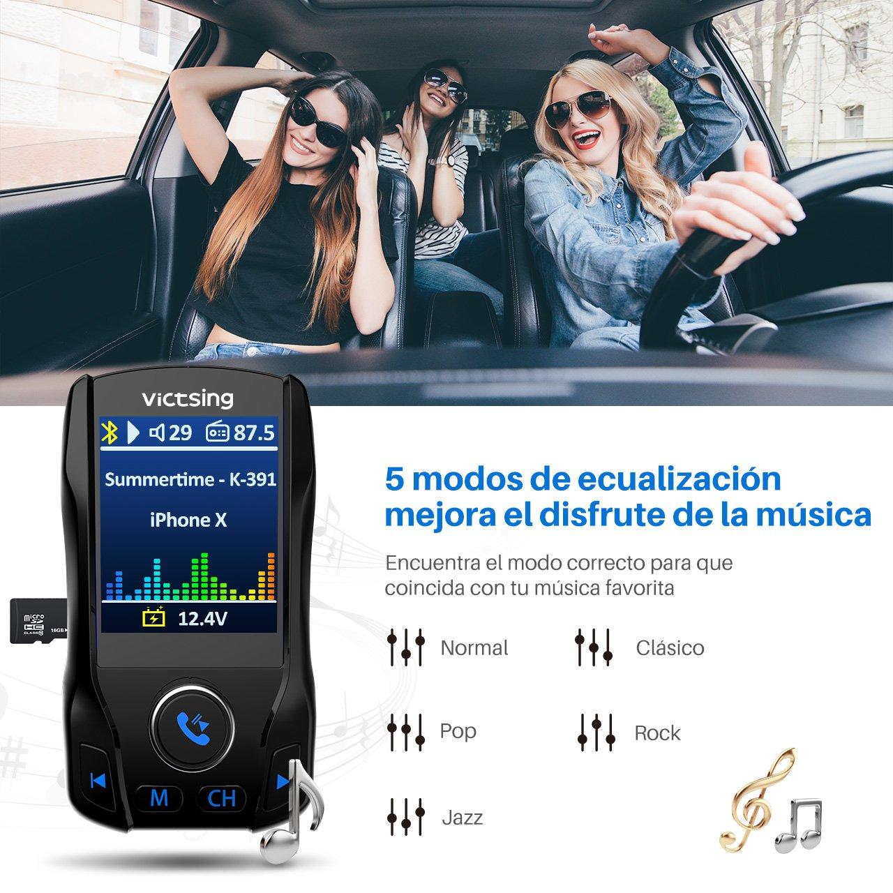 USB Flash Drive 3/Port USB chargeur adaptateur de radio lecteur MP3/Voiture /écran en Couleur TFT de 1.8/pouces carte TF pour t/él/éphone support entr/ée Aux Victsing Mains libres transmetteur FM Bluetooth Voiture